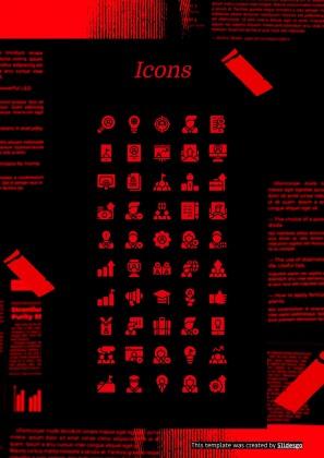 Plantilla de presentación CV moderno y rojo estilo coreano