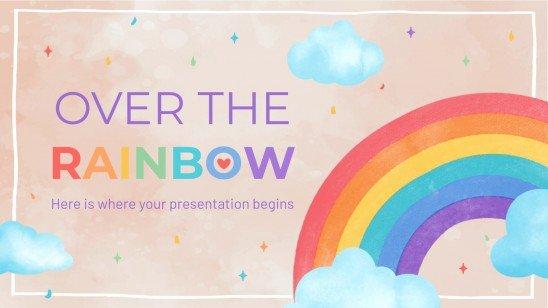 Plantilla de presentación Sobre el arcoíris