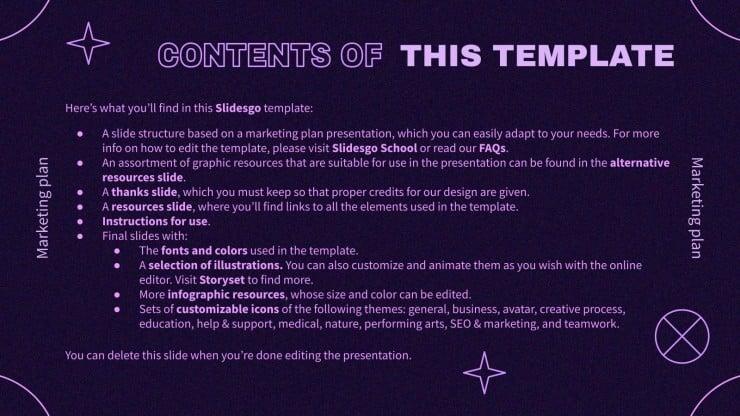 Der ultimative Marketingplan Präsentationsvorlage
