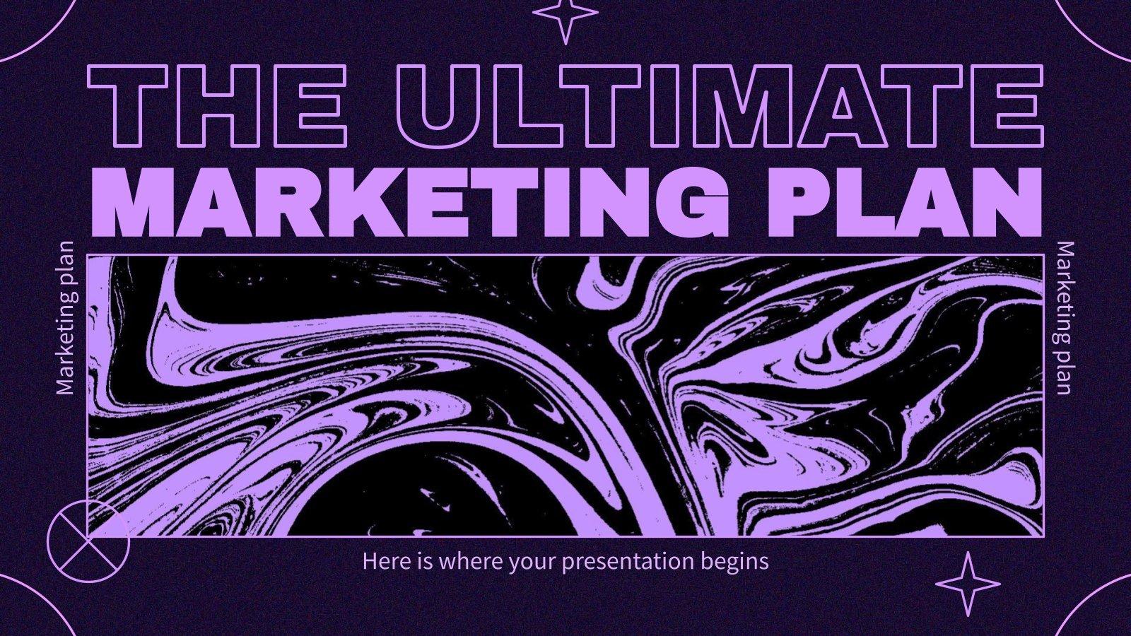 Modelo de apresentação O plano de marketing definitivo