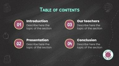 Découvrez nos enseignants  - établissement scolaire : Modèles de présentation