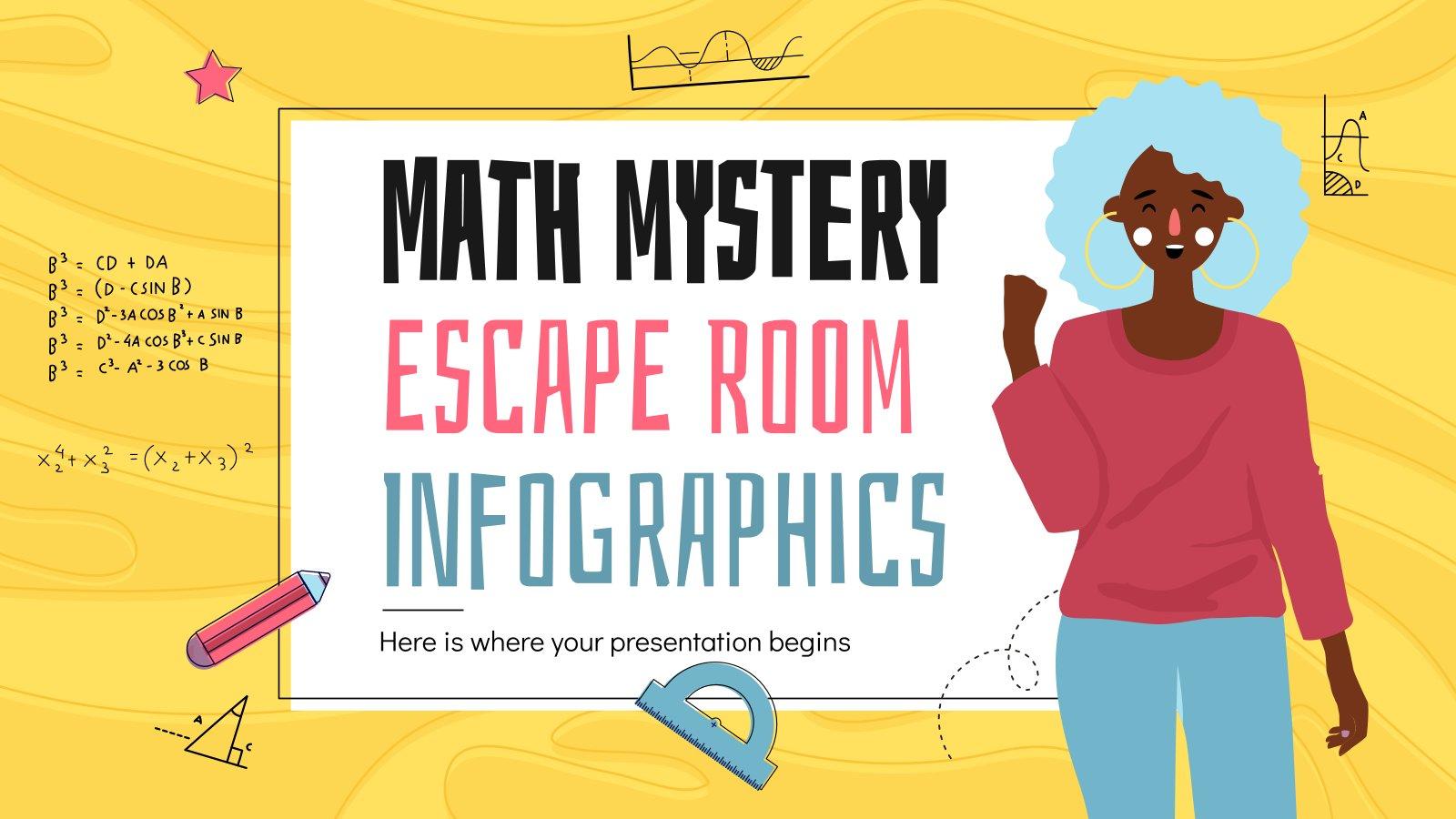 Infographies escape room des mystères mathématiques : Modèles de présentation