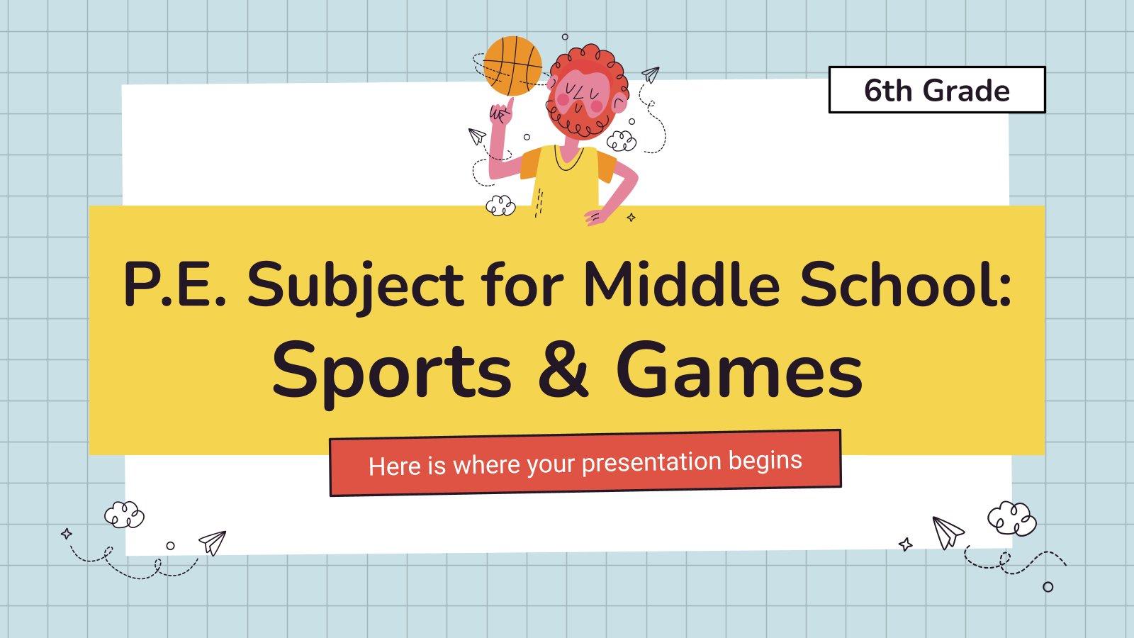 Sportunterricht für die 6. Klasse Präsentationsvorlage