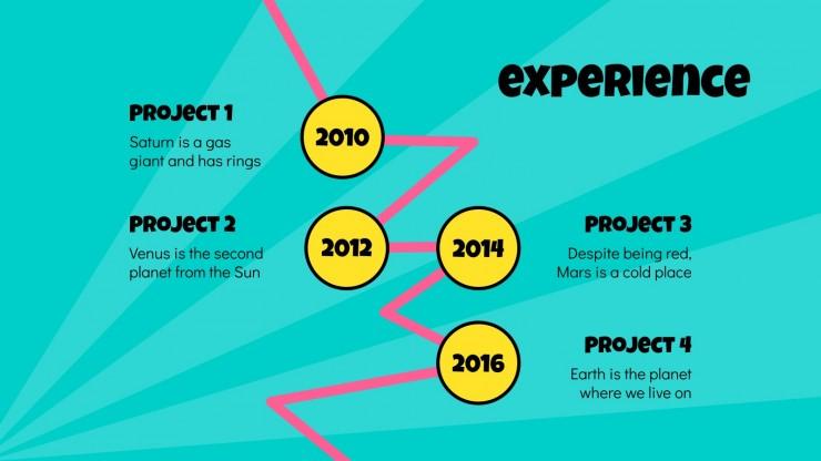 CV Pop Art : Modèles de présentation