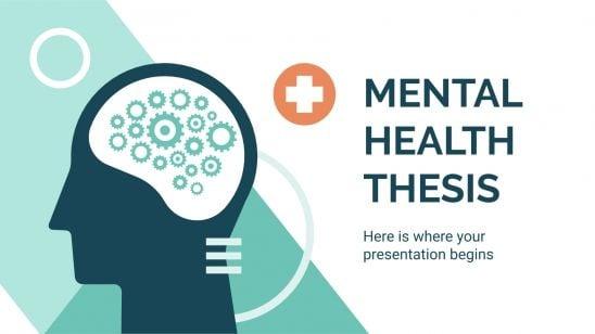 Geistige Gesundheit Abschlussarbeit Präsentationsvorlage