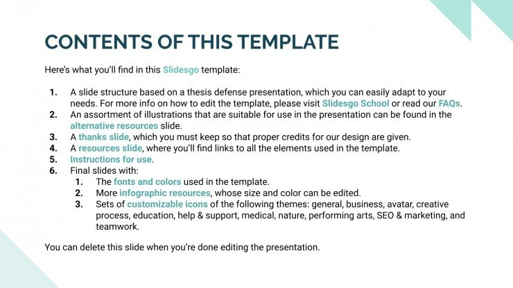 Mental Health Thesis presentation template