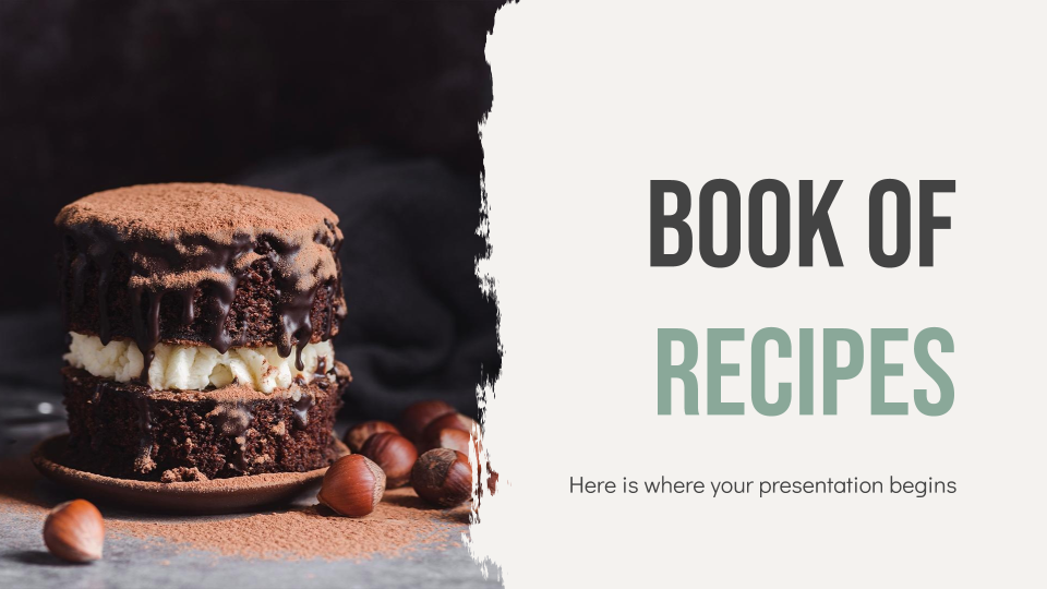 Book of Recipes presentation template