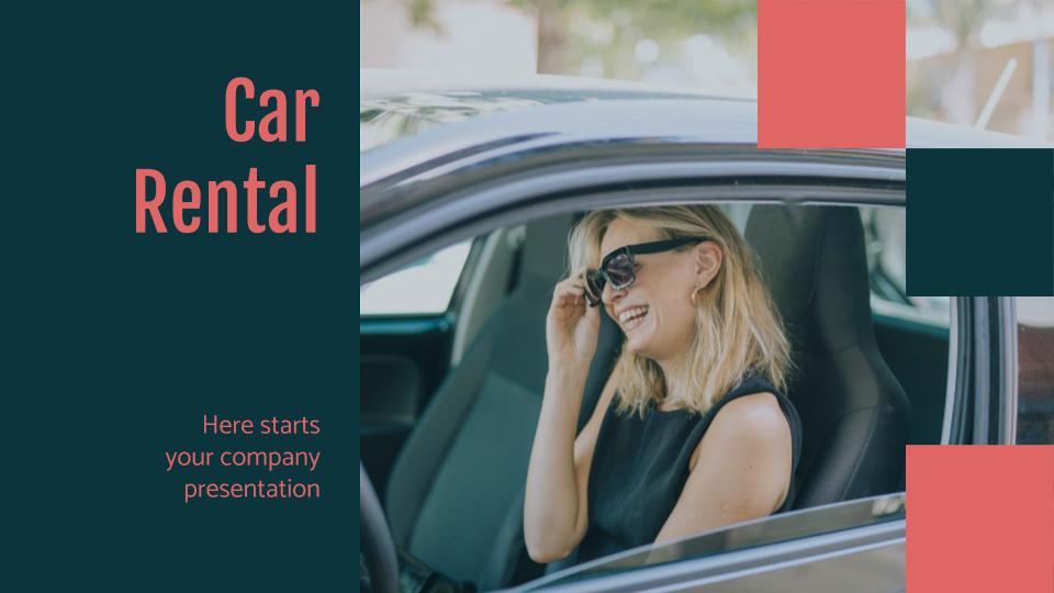 Car Rental presentation template