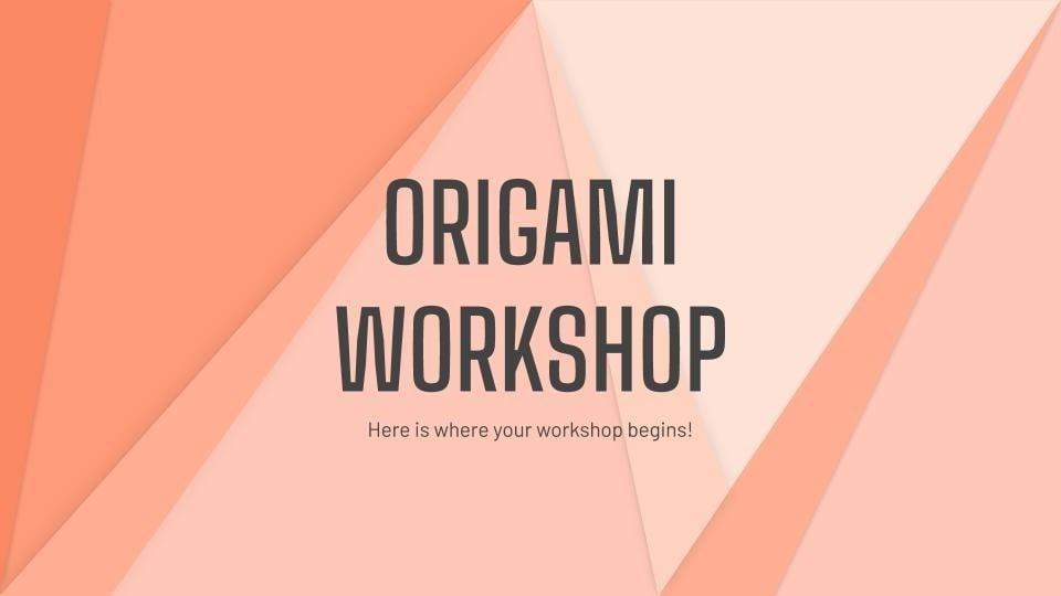Modelo de apresentação Oficina de origami
