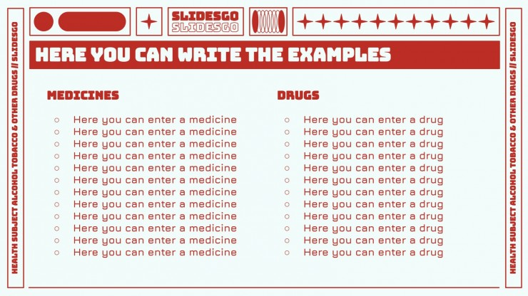 Health Subject for High School - 9th Grade: Alcohol, Tobacco & Other Drugs presentation template