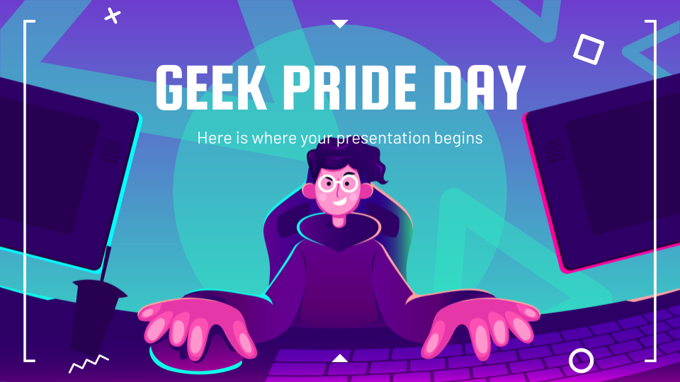 Geek Pride Day Präsentationsvorlage