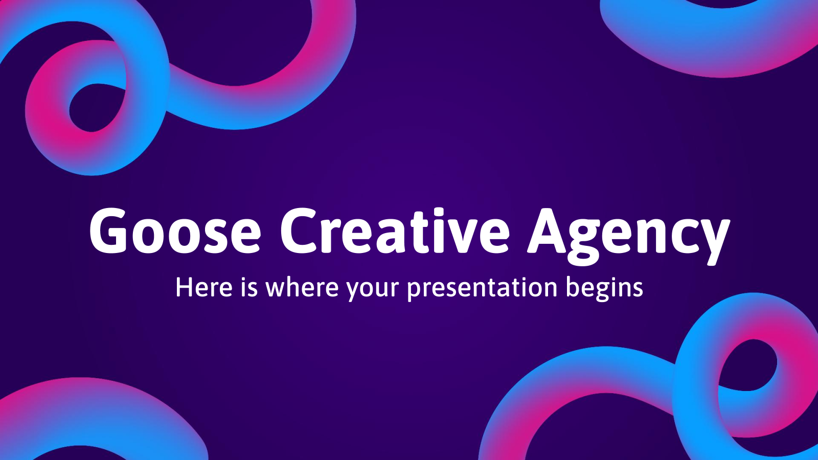Goose Creative Agency presentation template
