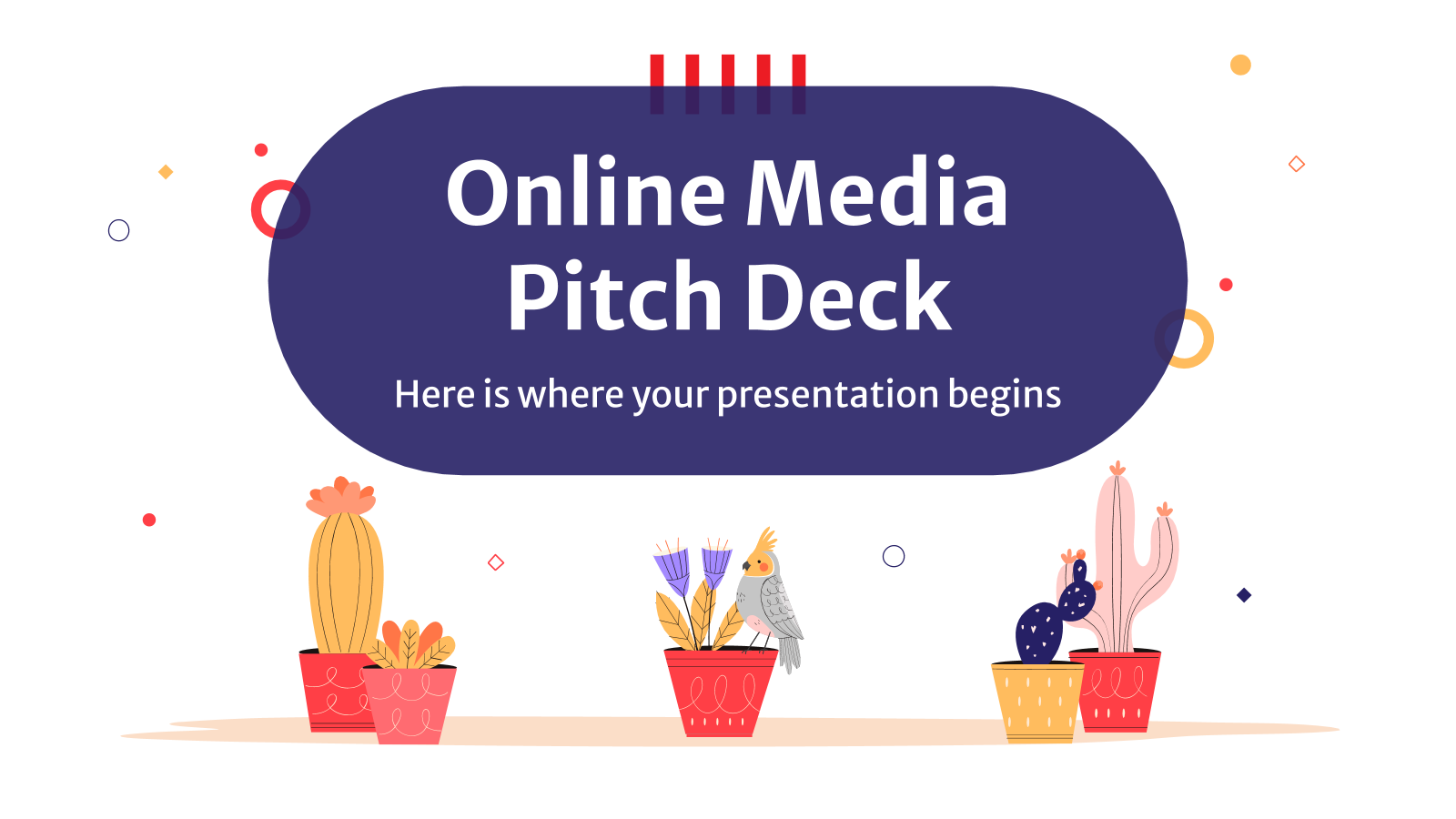 Online Media Pitch Deck presentation template