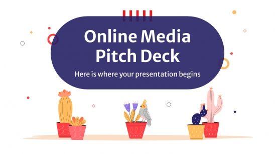 Pitch deck de média en ligne : Modèles de présentation