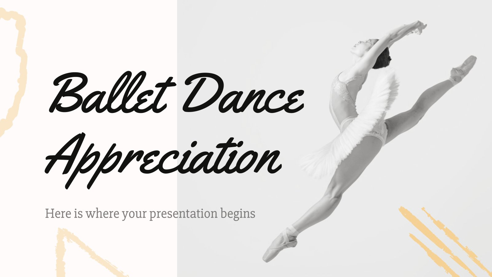 Plantilla de presentación Aprecio por el ballet