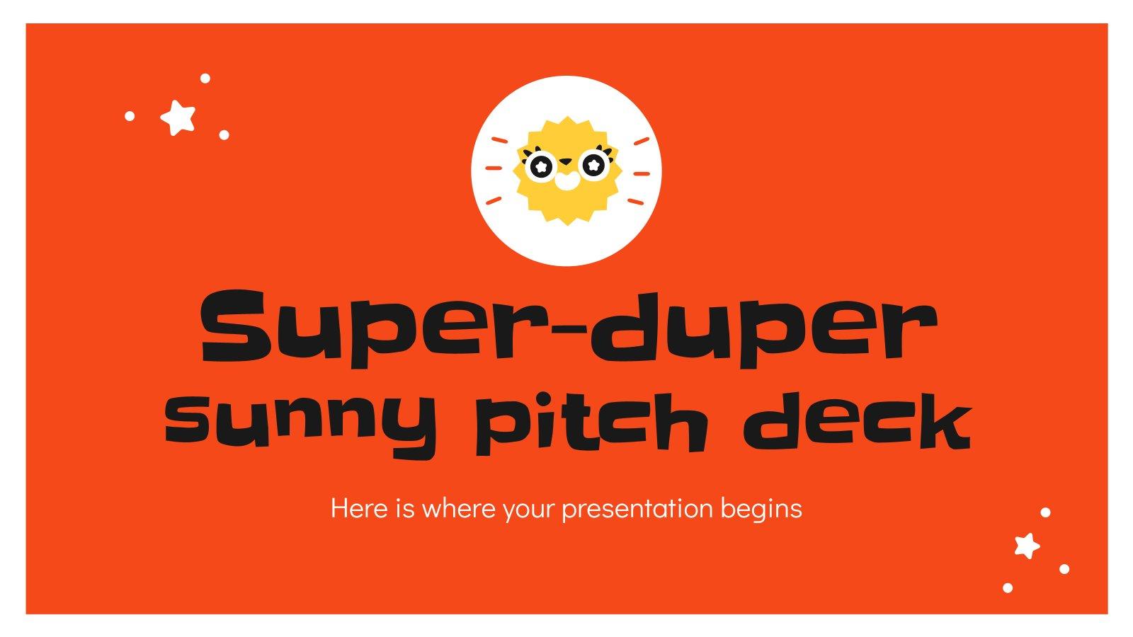 Super sonniges Pitchdeck Präsentationsvorlage