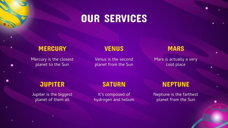 Plantilla de presentación ¡Bienvenido a nuestro universo!