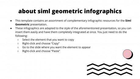 Infographies Siml géométrique : Modèles de présentation