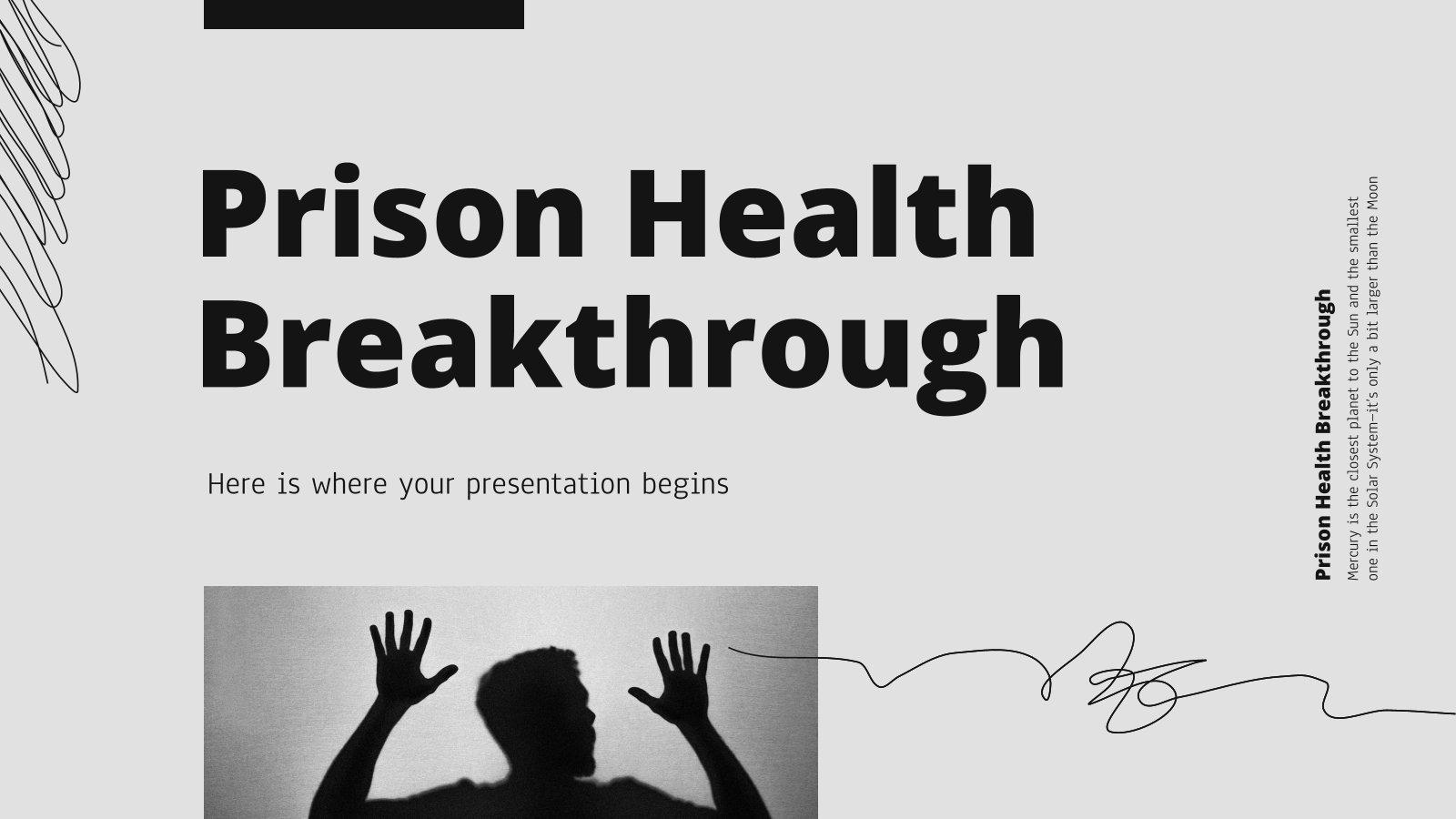 Prison Health Breakthrough presentation template