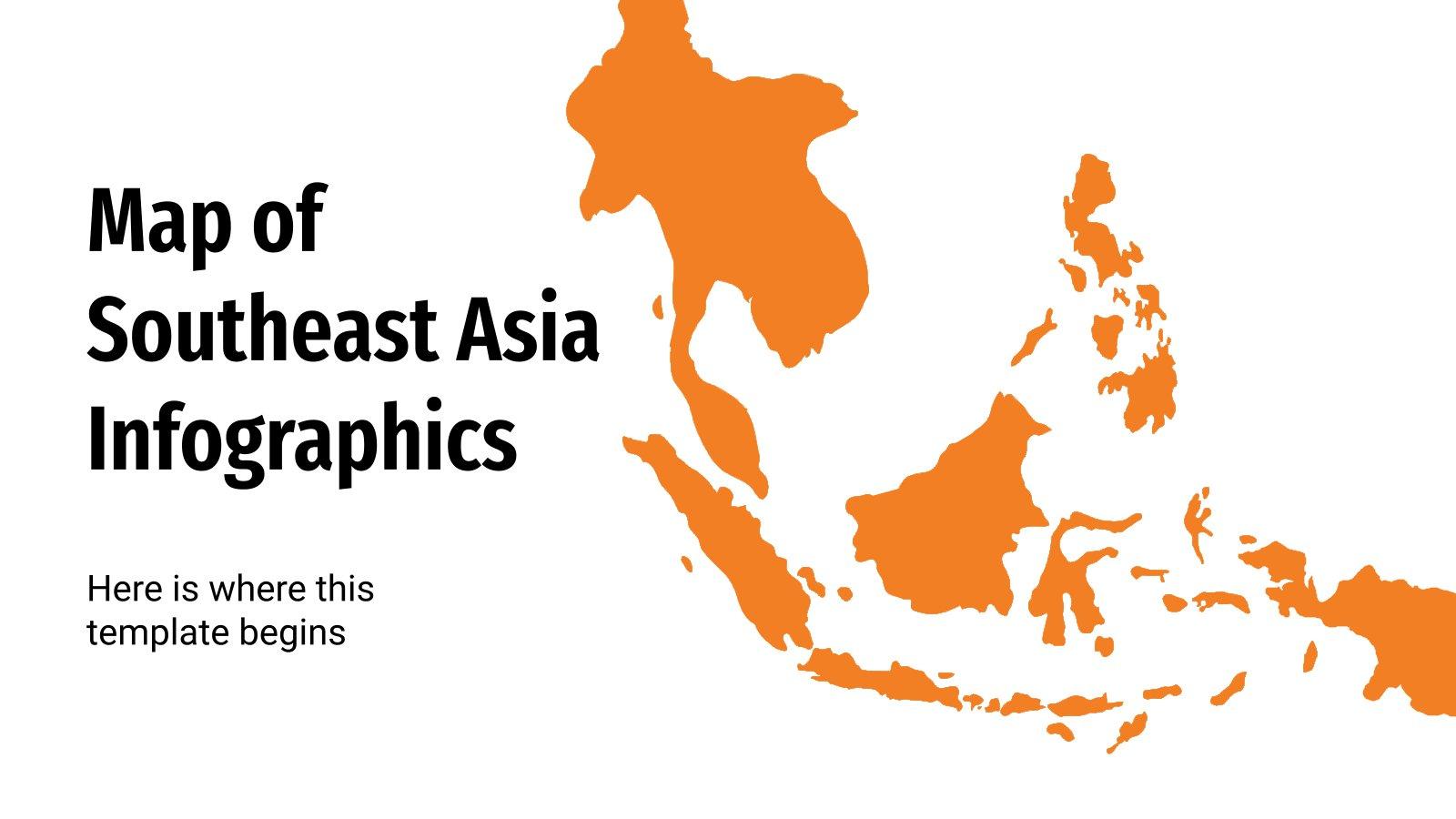 Infographies de carte de l'Asie du Sud-Est : Modèles de présentation