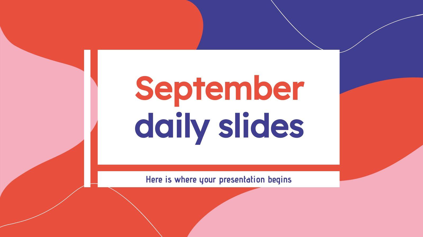 September tägliche Folien Präsentationsvorlage