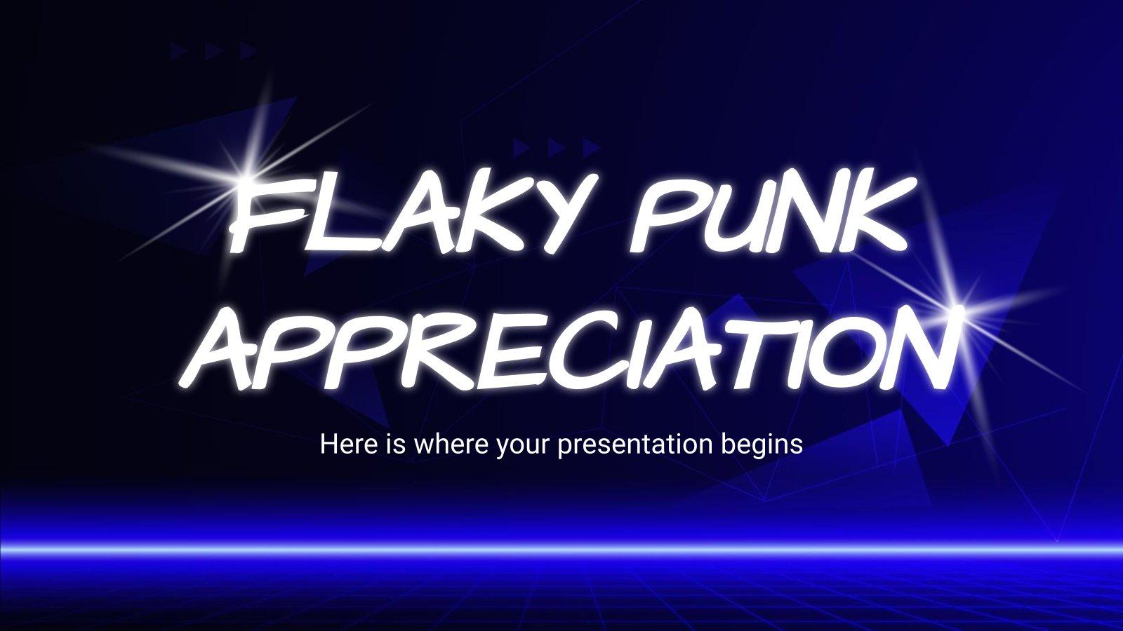 Plantilla de presentación Gusto por la música punk