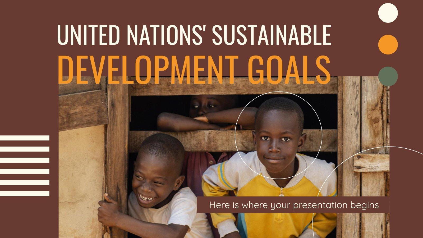 Plantilla de presentación Objetivos de Desarrollo Sostenible