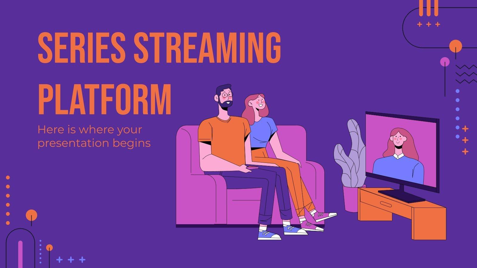 Plateforme de streaming pour les séries : Modèles de présentation