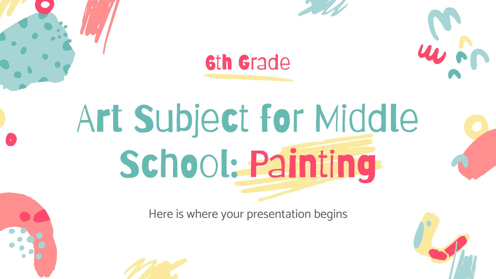 Art Subject for Middle School - 6th Grade: Painting presentation template