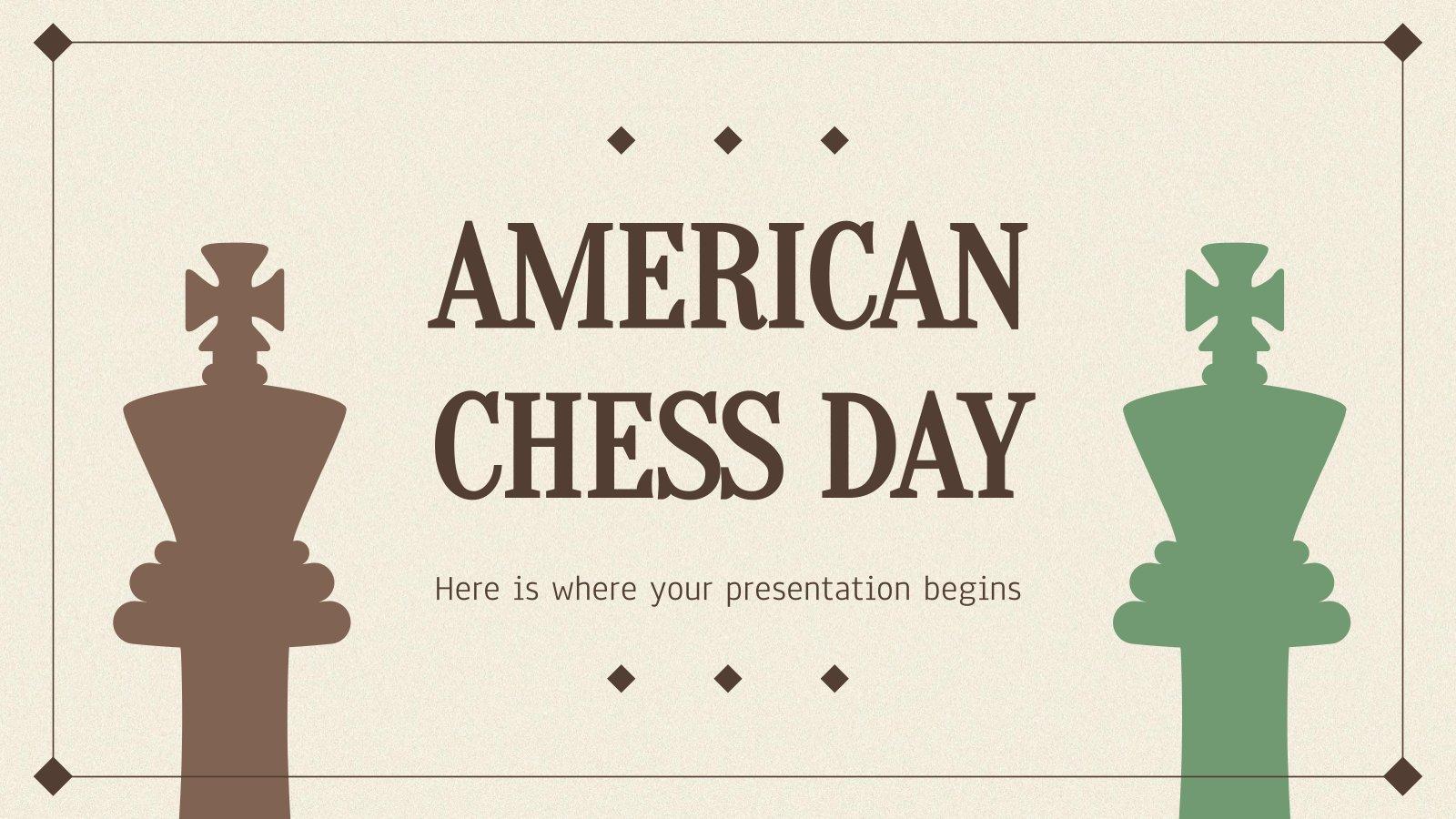 Tag des Schachs Präsentationsvorlage