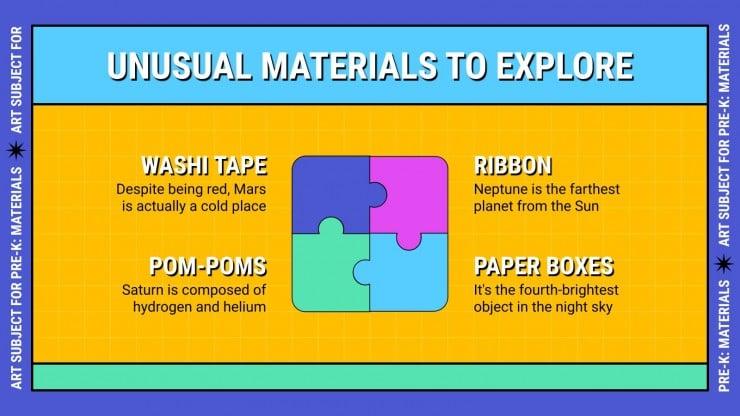 Art Subject for Pre-K: Materials presentation template