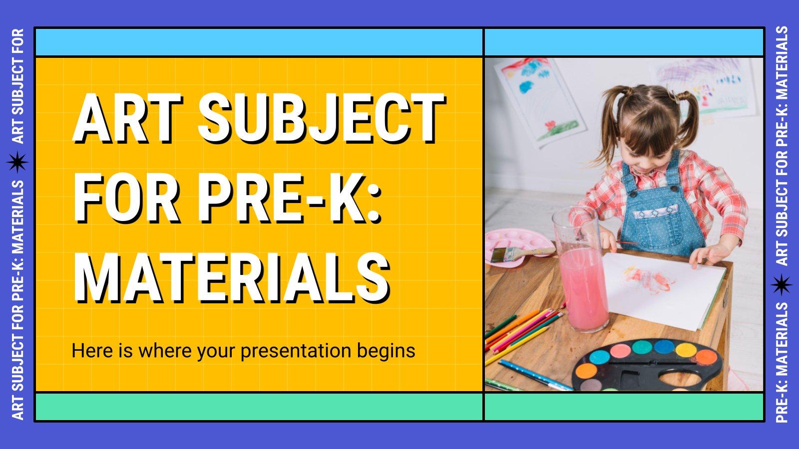 L'art pour la maternelle : Matériaux : Modèles de présentation