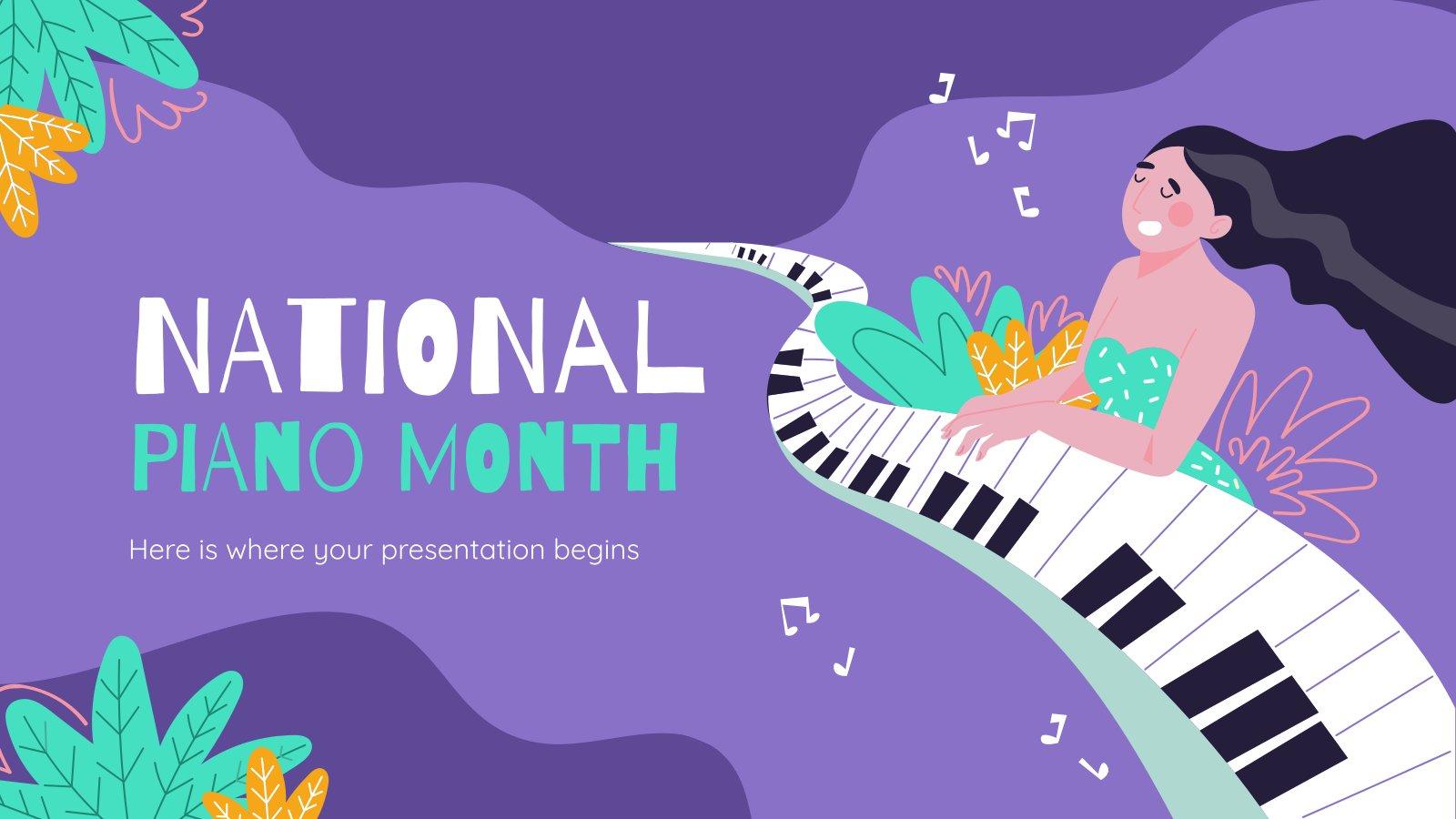 Klavier-Monat Präsentationsvorlage