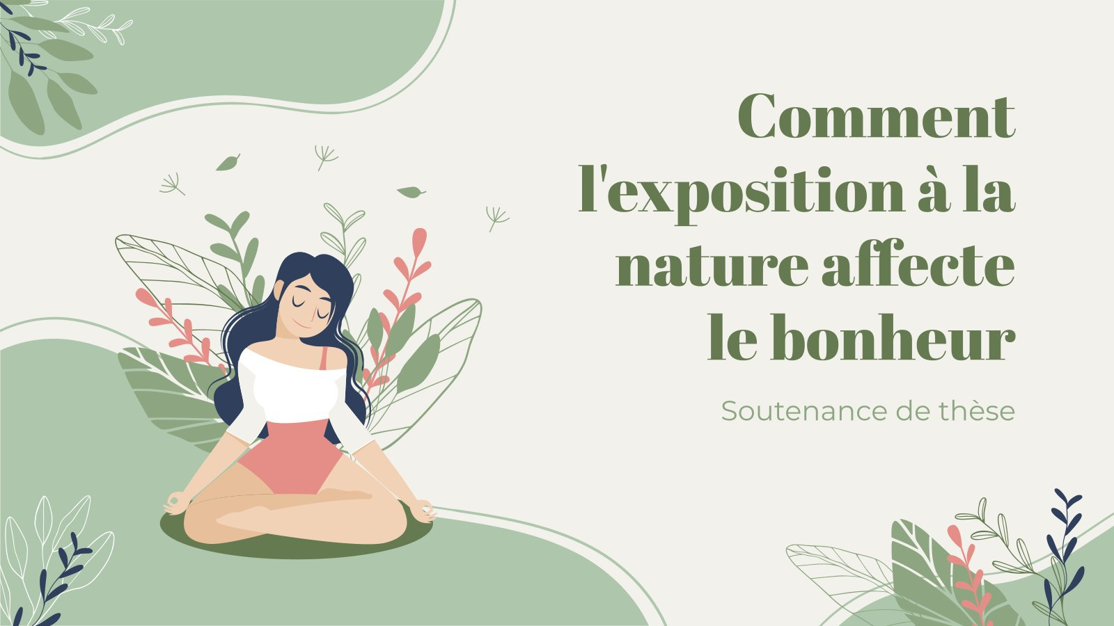 Comment l'exposition à la nature affecte le bonheur - Soutenance de thèse presentation template
