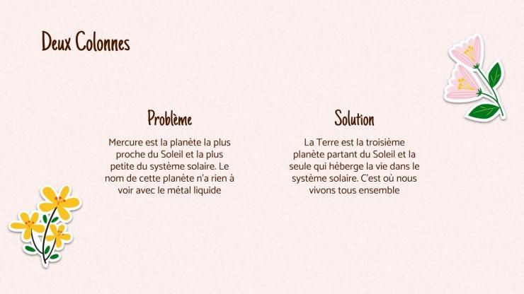Jolies fleurs - Plan d'affaires : Modèles de présentation