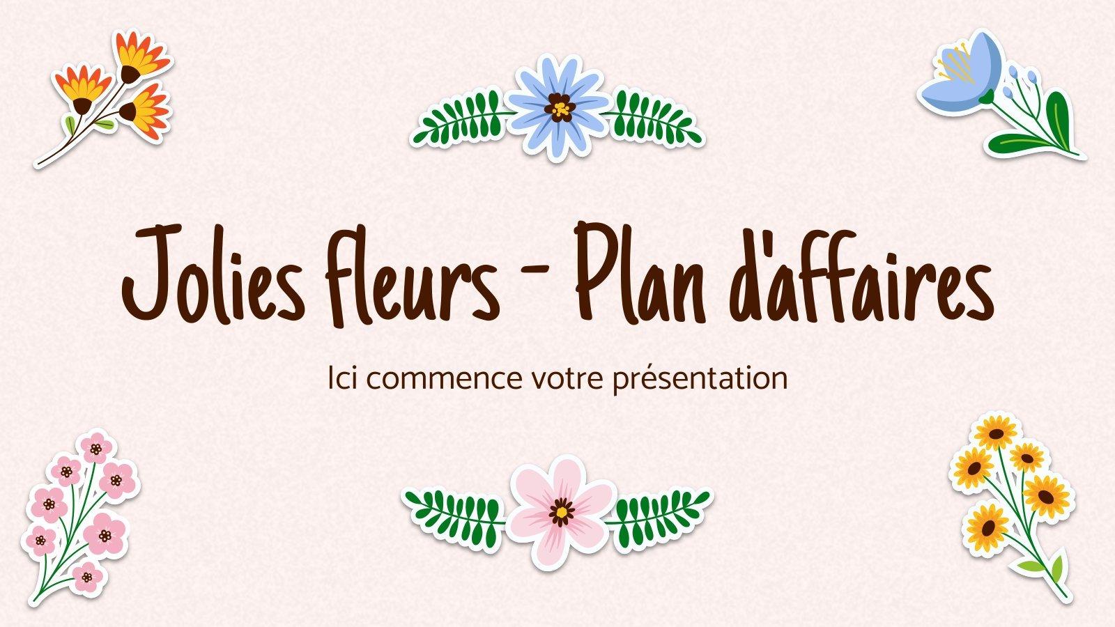 Plantilla de presentación Jolies fleurs - Plan d'affaires
