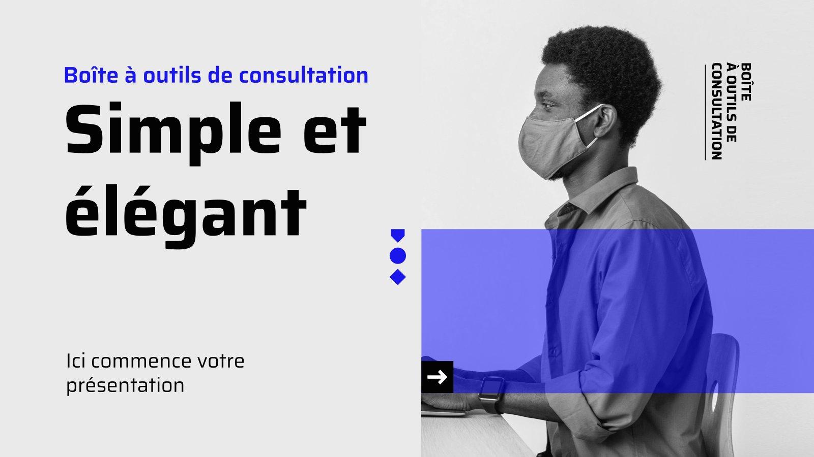 Simple et élégant - Boîte à outils de consultation presentation template