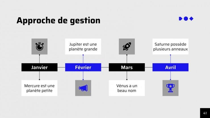 Plantilla de presentación Simple et élégant - Boîte à outils de consultation