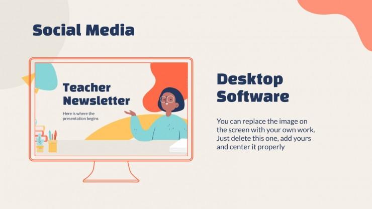 Teacher Newsletter presentation template