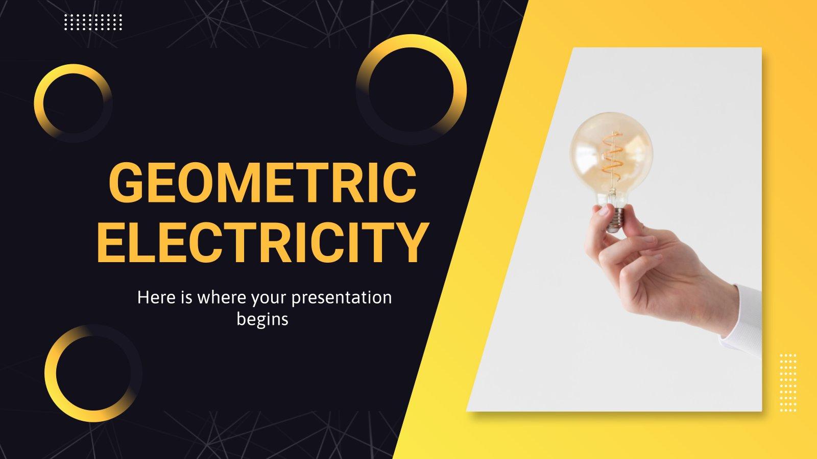Minithema Elektrizität Präsentationsvorlage