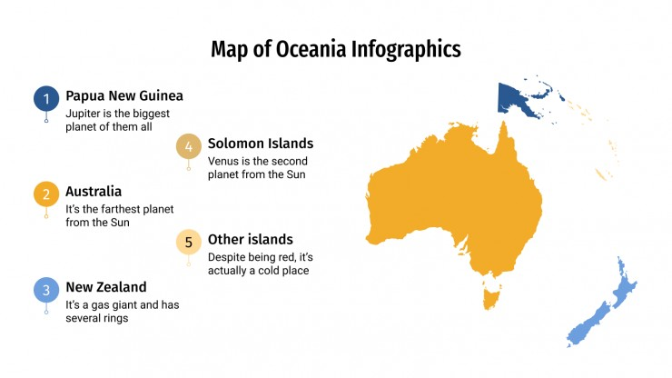 Map of Oceania Infographics presentation template