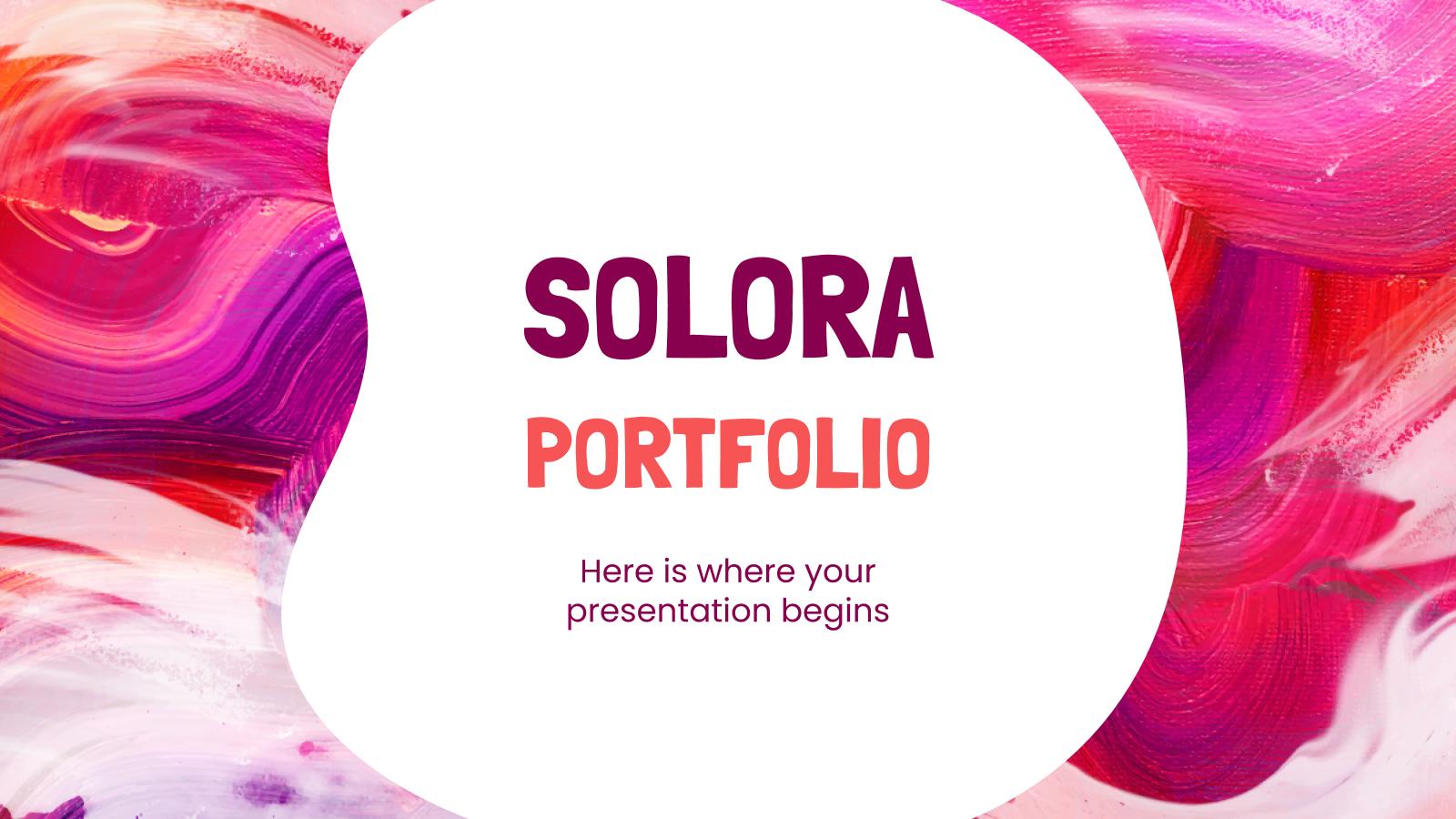 Plantilla de presentación Portafolio Solora