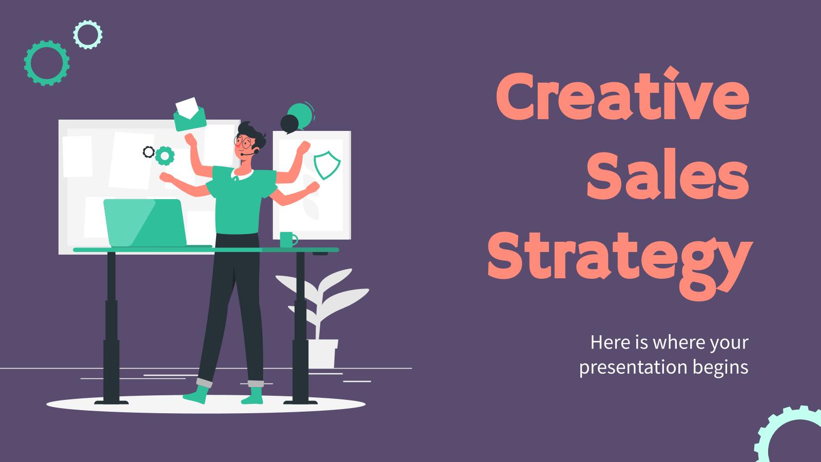 Modelo de apresentação Estratégia de vendas criativa