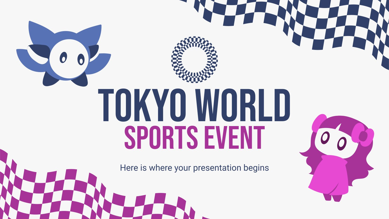 Plantilla de presentación Evento deportivo mundial en Tokio