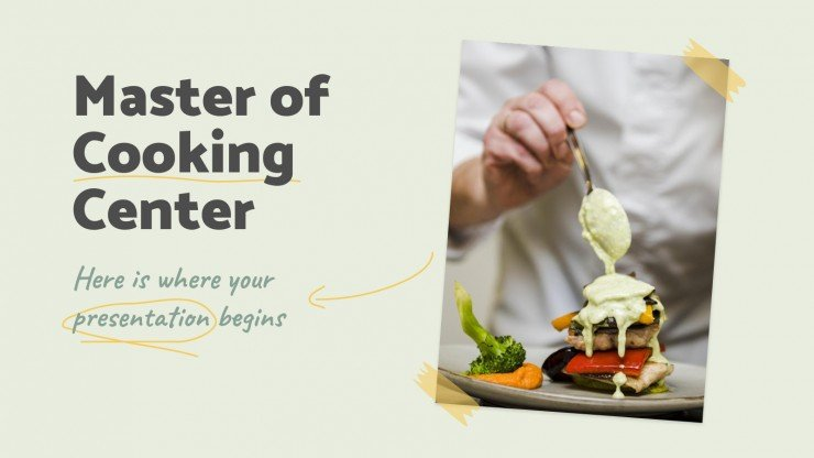 Master of Cooking Center presentation template