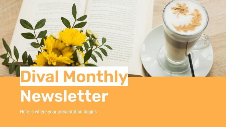 Plantilla de presentación Newsletter mensual Dival