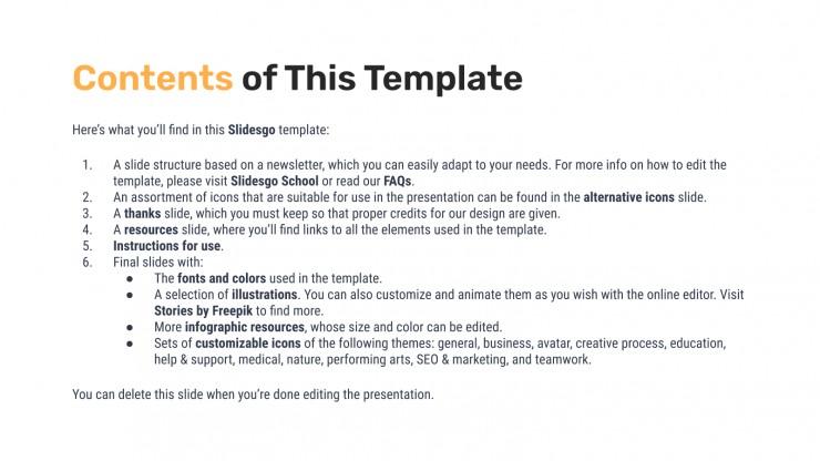Modelo de apresentação Newsletter mensal Dival