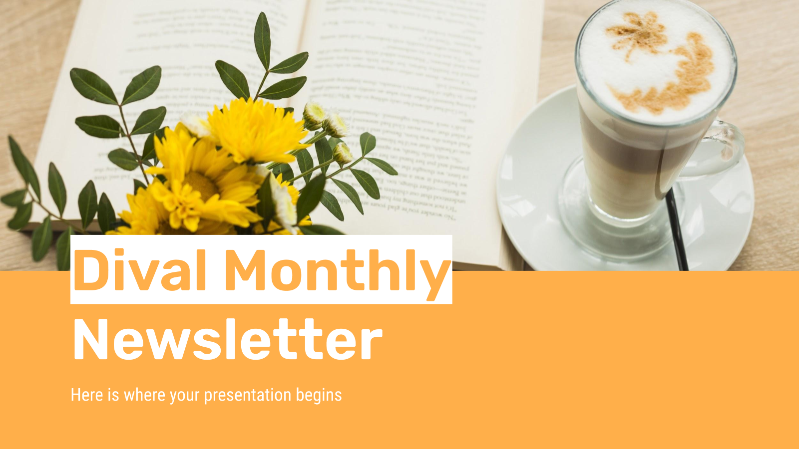 Dival Monthly Newsletter presentation template