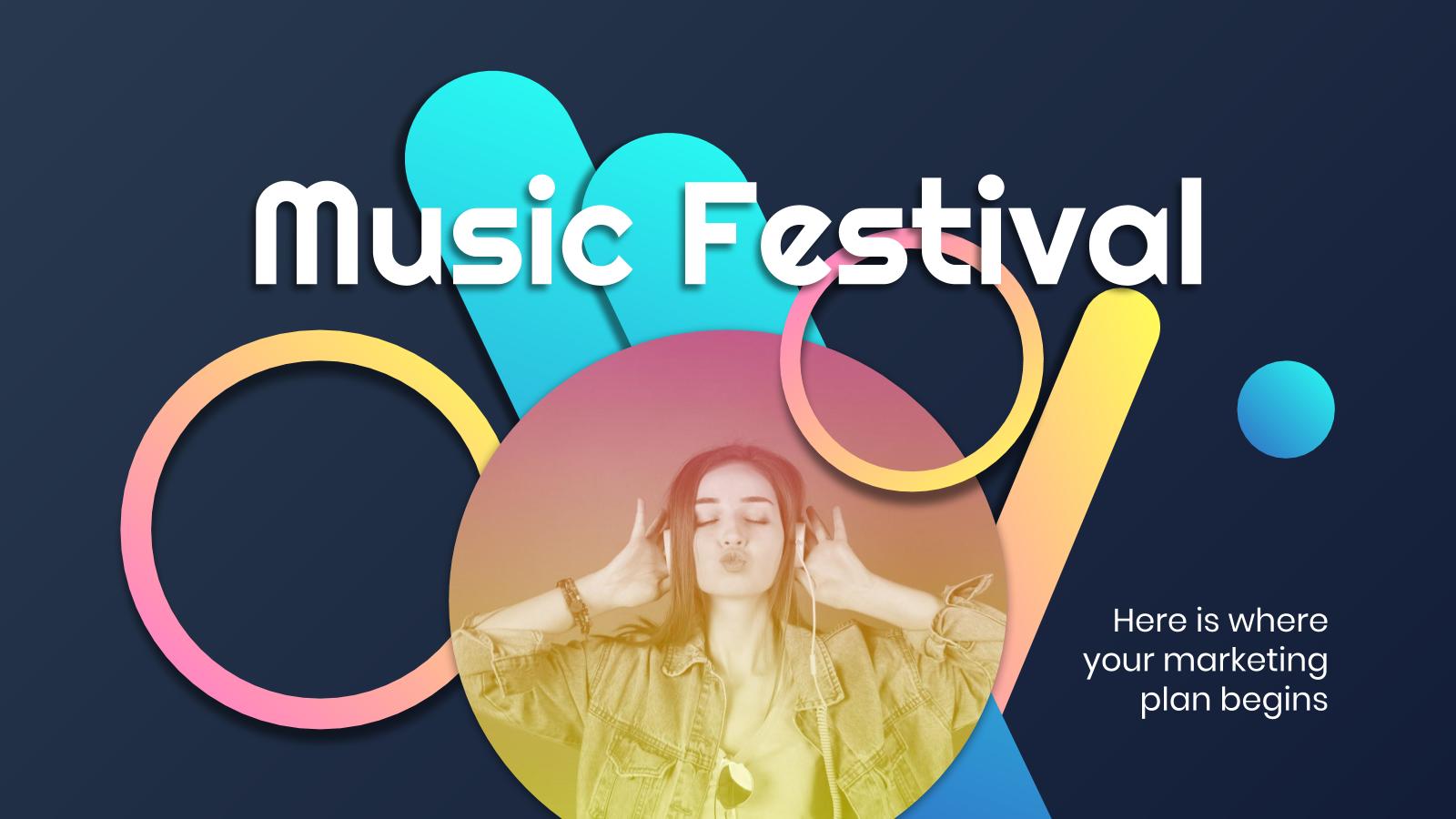Music Festival Marketing Plan presentation template