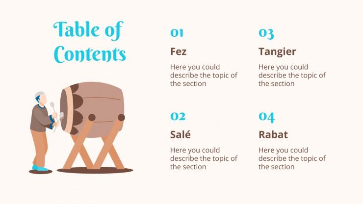 Travel Guide: Morocco presentation template